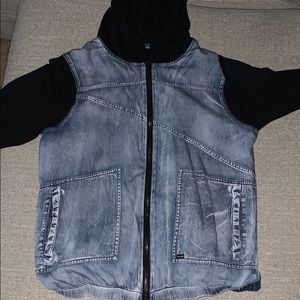 Volcom hooded Jean jacket